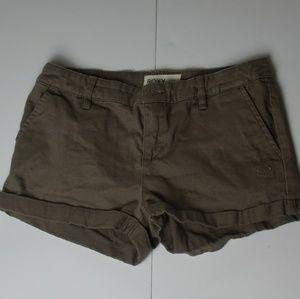 Brown cuffed shorts